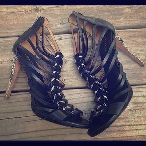 Coach Josey strappy Sandal Heel 8.5 snakeskin